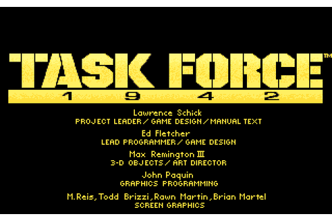 Task Force 1942 (1992) by Microprose MS-DOS game