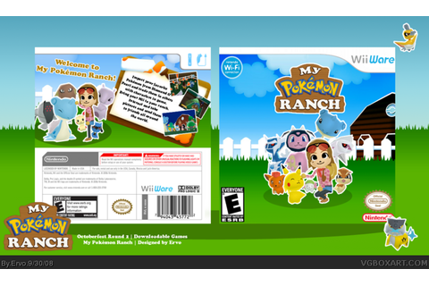 My Pokemon Ranch Wii Box Art Cover by Ervo