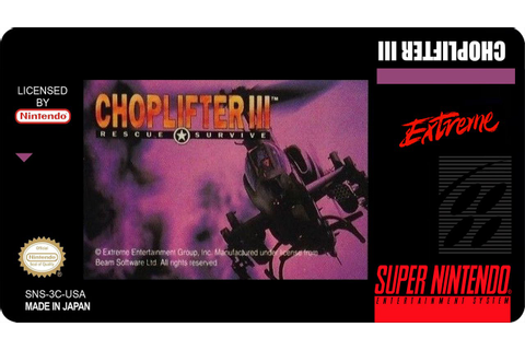 Snes Longplay - Choplifter III - YouTube