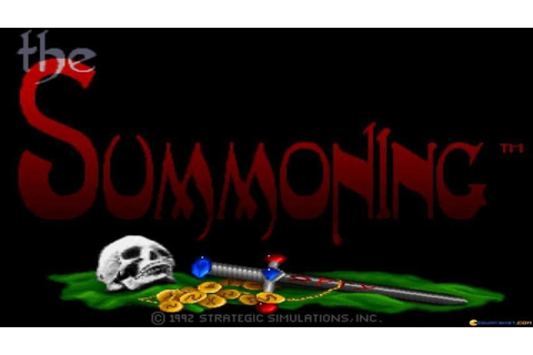 The Summoning intro (PC Game, 1992) - YouTube