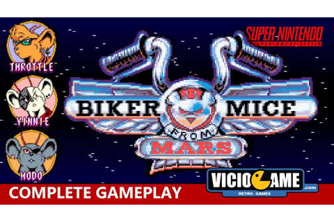 Biker Mice from Mars (SNES) Complete Gameplay - YouTube