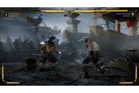 MK11: Scorpion Vs Baraka Gameplay - YouTube