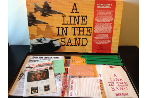 A Line in the Sand by TSR 1991 Vintage 1990s Gulf War Game