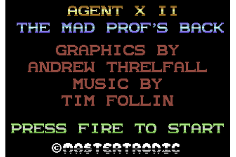 Agent X II: The Mad Prof's Back! (1987) by Software ...