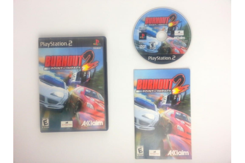 Burnout 2 Point of Impact game for Playstation 2 (Complete ...