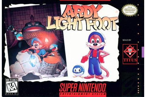Ardy Lightfoot SNES Super Nintendo