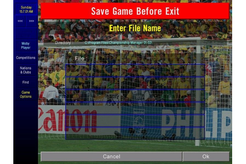 Championship Manager: Season 01/02 on Qwant Games