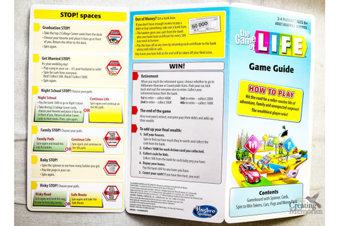 The NEW Game of Life by Hasbro With Instructions for life ...