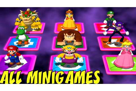 Mario Party 4 - All Minigames - YouTube