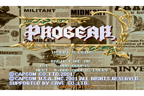 Progear no Arashi (2001) by Cave Arcade game