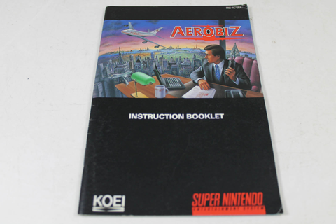Manual - Aerobiz - Rare Snes Super Nintendo