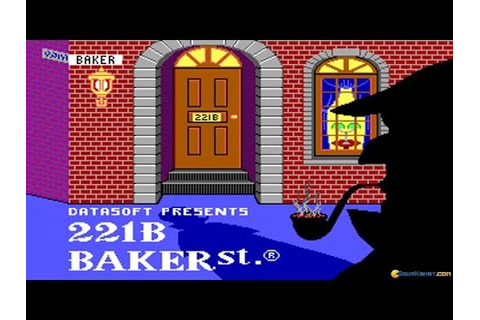 221B Baker Street gameplay (PC Game, 1986) - YouTube