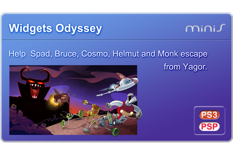 GAMES & GAMERS: WIDGETS ODYSSEY PS3/PSP MINIS DOWNLOAD