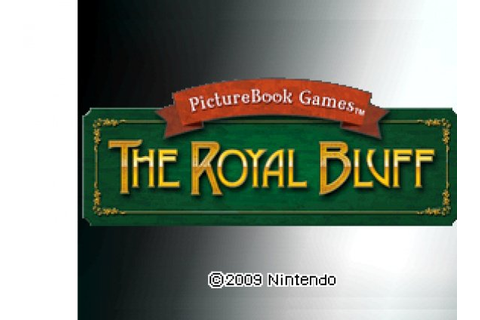 PictureBook Games: The Royal Bluff Review (DSiWare ...