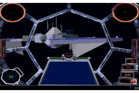 Star Wars: TIE Fighter vehicle simulation for DOS (1994 ...