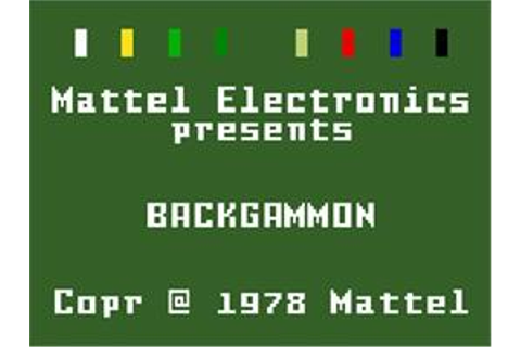 ABPA Backgammon - Mattel Intellivision - Games Database