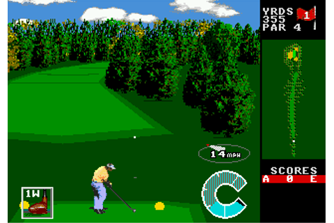 Play World Class Leaderboard Golf Sega Genesis online ...