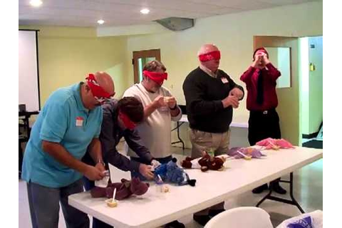 Men Playing Baby Shower Games - YouTube