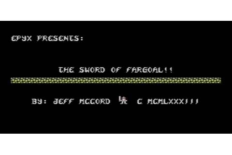 The CRPG Addict: Game 136: Sword of Fargoal (1982)