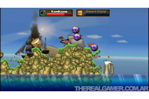 Worms Open Warfare 2 (PSP) - Gameplay #1 - TRG - YouTube