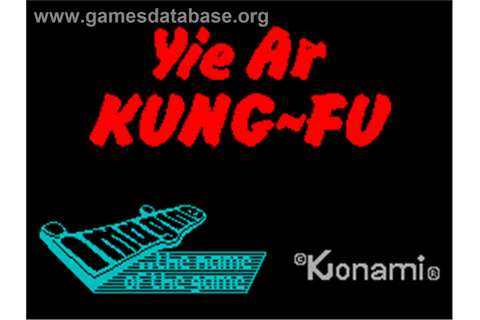 Yie Ar Kung-Fu - Sinclair ZX Spectrum - Games Database