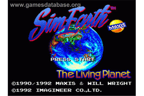 Sim Earth: The Living Planet - Nintendo SNES - Games Database