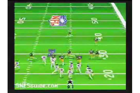Madden NFL '95 - SNES Gameplay - YouTube