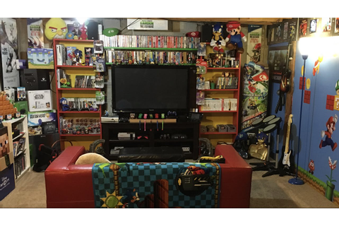 retro video game room tour Huge NES CIB collection - YouTube