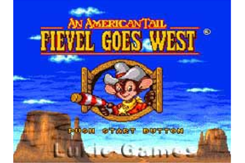 An American Tail Fievel Goes West SNES Super Nintendo