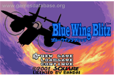 Blue Wing Blitz - Bandai WonderSwan Color - Games Database