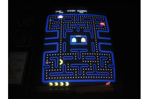 Pac-Man screenshot...Game completely rewired with JAMMA ...