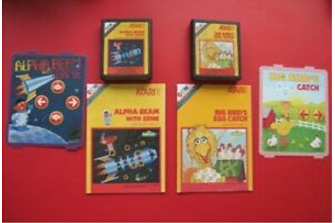 Lot of 2 Sesame Street Atari 2600 Games Alpha Beam with ...
