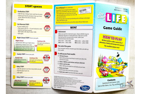 The NEW Game of Life by Hasbro With Instructions | Classic ...