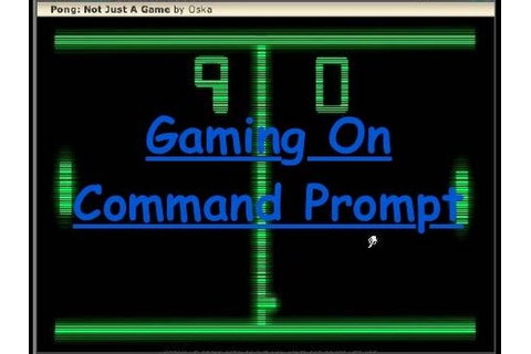 How to create video game in CMD (Command Prompt)!? - YouTube