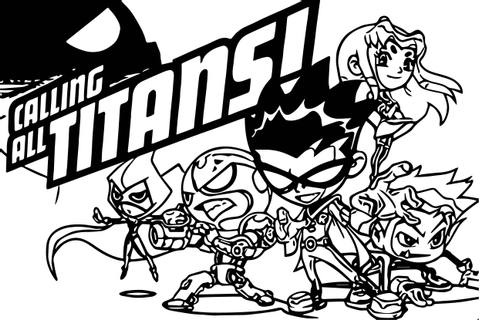 Calling Titans Games Free Cartoon Network Coloring Page ...