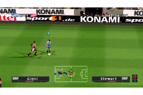 Pro Evolution Soccer 2 (2002) Gameplay - PSX,PSONE ...