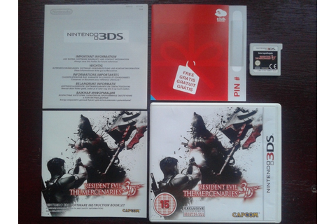 Nintendo 3DS game: Resident Evil: The Mercenaries 3D ...