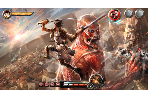 eren vs colossal titan video game attack on titan shingeki no kyojin ...