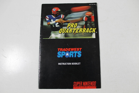 Manual - Pro Quarterback - Snes Super Nintendo