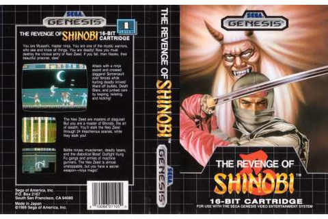Game: The Revenge of Shinobi [Sega Genesis, 1989, Sega ...