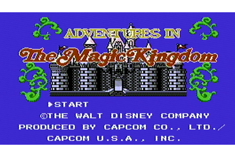 Disney's Adventures in The Magic Kingdom - NES Gameplay ...
